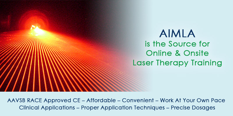 AIMLA is the Source for Online & Onsite Laser Therapy Training